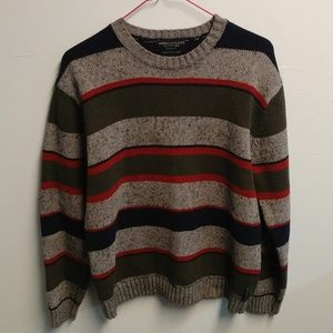 American Eagle Striped Wool Sweater ~ L